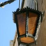 Metal cover of Street Lamp